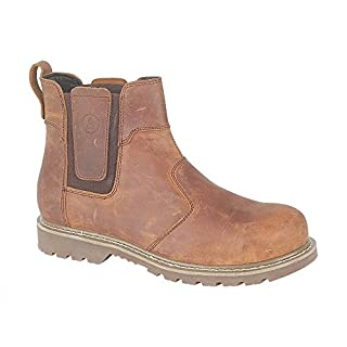 Amblers Mens Abingdon Mens Boot Brown Crazy Horse Leather Dealer Boot 10