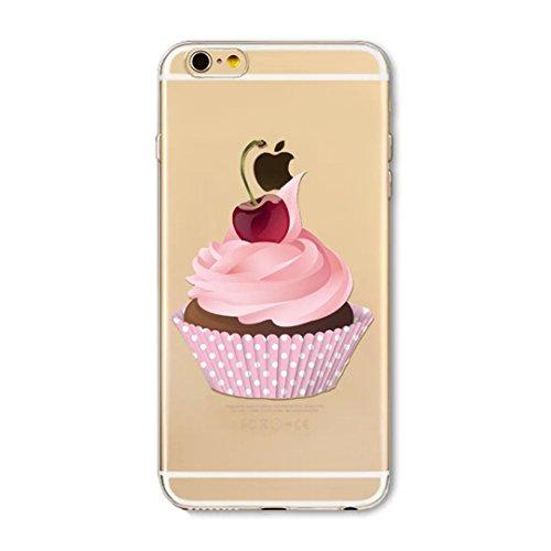 KSHOP Etui pour iphone 6/iphone 6s (4.7) Case Cover TPU en Souple Silicone Ultra Mince Shock Absorption Coque Transparente Bumper Modif Peint - frites d11