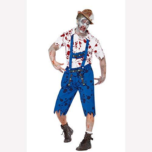 Aus Wissenschaftler Hause Kostüm - WANLN Horror Zombie Kostüm Halloween Vampir Kannibale Kostüm Rollenspiel Karneval Party Erwachsener Mann Ausgefallene Outfits Gruselknochen Halloween Kostüme,XL