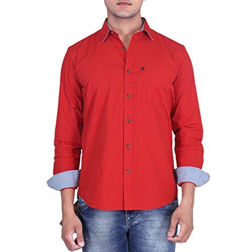 Provogue Men's Casual Shirt Red