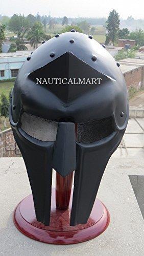 Gladiator Helm Mittelalter Armor Spartan Helm schwarz Finish von nauticalmart