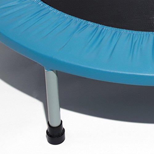 Premium Fitness Trampolin 100 cm Durchmesser für Aerobic & Ausdauertraining, TÜV geprüft -