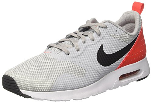 Nike Air Max Tavas, Herren Laufschuhe, Grau (Wolf Grey/Black-Max Orange), 45 EU (10 UK) (Nike Air Max Für Männer)