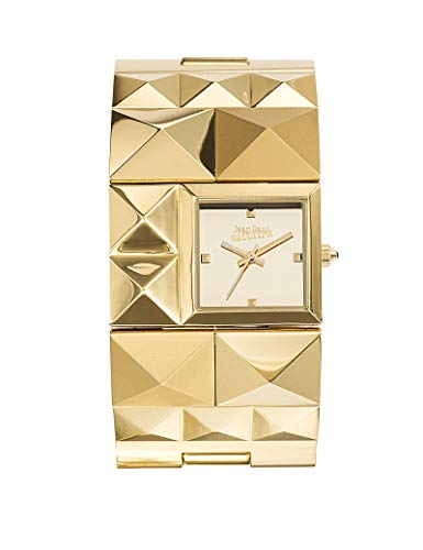 Zeigt Damen – Jean Paul Gaultier – Over Punk Chic Armband Stahl PVD Gold – 8504501