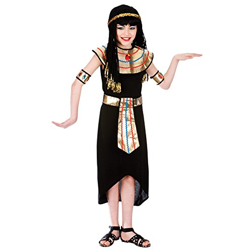 Egyptian Queen (11-13) Kids Fancy Dress Historical (Themen Kostüm Armee Ideen)