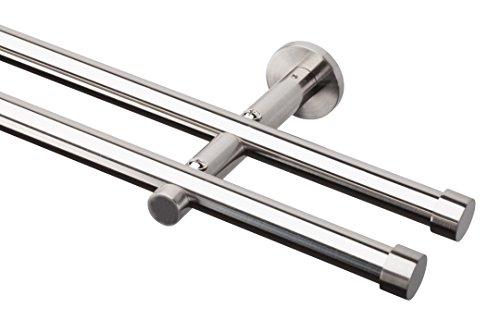 angen-Set ENDKAPPE, 20 mm, 2-läufig, Edelstahloptik (nickel gebürstet), 160 cm ()