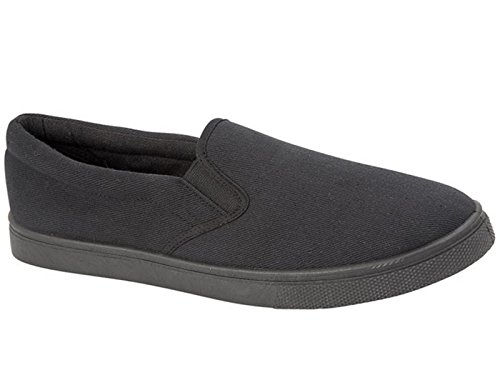 Mens Boston Canvas Slip On Casual Plimsoll Espadrille Pumps Loafers Deck Trainers...