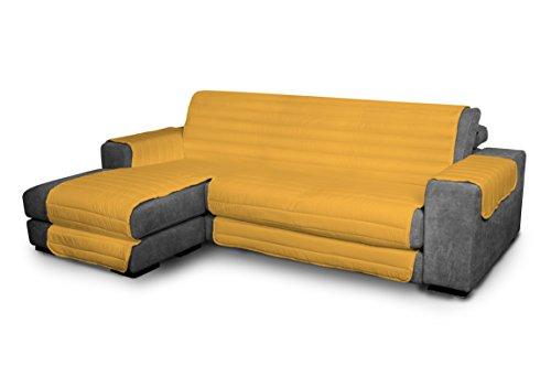 Elegant Couchüberzüge, gelb 240cm +chaiselongue, 100% Microfiber