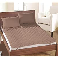Rajasthan Crafts Microfibre 240TC Mattress Protector (Single_Coffee Brown)