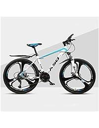 QJ Montaña para Bicicleta Varón Y Hembra Adulta luz del Camino Que compite con 24 Estudiante Urban Speed Choque de Bicicletas,c,24in