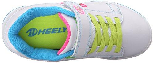 Heelys Mädchen Dual Up 770585 Lauflernschuhe Sneakers, 36 EU Elfenbein (Solid White / Neon Multi)