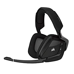 Corsair Void Pro RGB Wireless Gaming Headset (Customisable RGB Lighting, Low Latency 2.4 Ghz Wireless, 7.1 Dolby Surround Sound, Optimised Unidirectional Microphone) - Carbon Black
