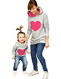 Parent-Child Outfit Sweaters Mom Baby Women Kids Girl Knit Off Shold Blouse LX
