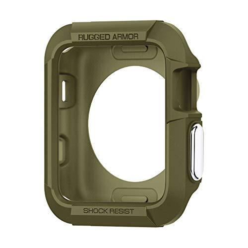 Spigen Apple Watch Hülle, Rugged Armor entworfen für Apple Watch 38mm Series 3/2/1/Original (2015) Case - Olive Green -