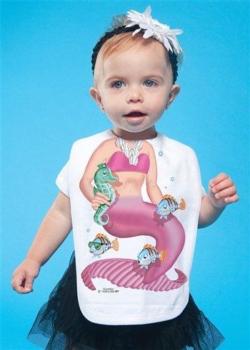 Quality Bib Fancy Dress Cute Pink Mermaid Girl Baby Gift (Fancy Dress Ideen Cute)
