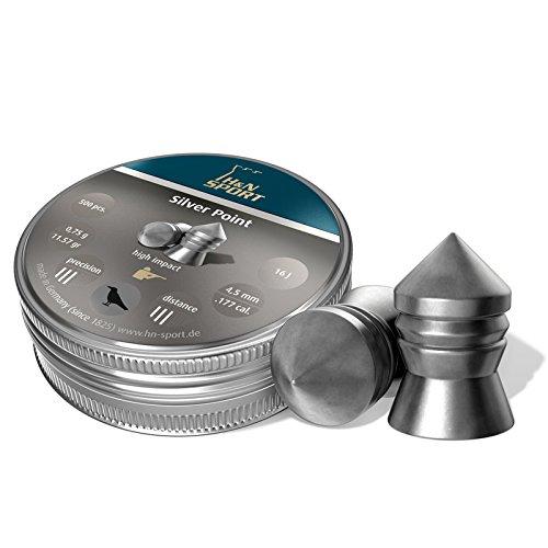H&N Silver Point 4,5 mm Diabolo 500 Stück 0,75 g (Spitzer Waffe)