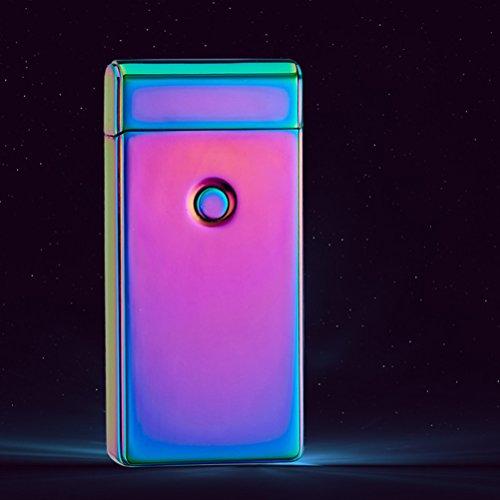 Nuolux Elektrisches wiederaufladbares Feuerzeug mit Doppelbogen, USB, ohne Flamme winddicht