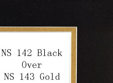 pack-of-10-16x20-black-metallic-gold-double-mats-mattes-with-white-core-bevel-cut-for-11x14-photo-ba