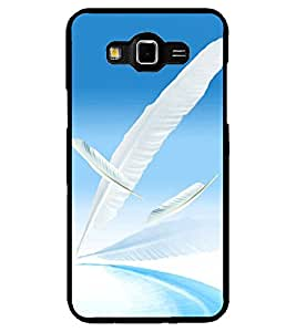 ColourCraft Lovely Feathers Design Back Case Cover for SAMSUNG GALAXY GRAND 3