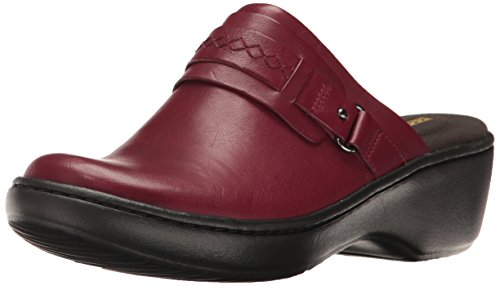Clarks Women's Delana Amber Mule, Red Leather, 7 M US