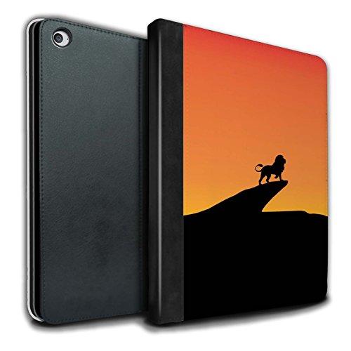 �lle/Case/Brieftasche für Apple iPad Air 2 Tablet/Löwe Inspiriert Muster/Minimalistische Filmkunst Kollektion ()