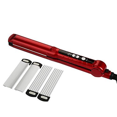 Rizador de pelo ondulador alisador de cabello intercambiable 1 pulgada plancha plana herramientas de estilo para rizar y alisar