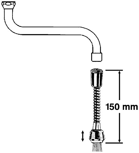 Strahlregler-Zwischenschlauch Formt gleichmäßigen Wasserstrahl