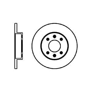 Jeu de disques de frein pour renault mEGANE 402066813R -