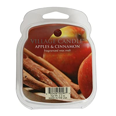 Village Candle 1-Piece Premium Wax Melt Pack for Oil/ Wax Burner, Apples and Cinnamon from Village Candle