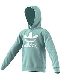 adidas ED7814, Sweatshirts Unisex Bambini, Vapour Green/White, 9-10A