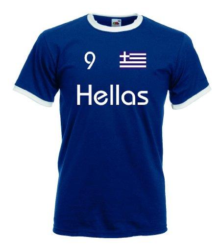 Griechenland Hellas Herren Retro T-Shirt Nr.9 Trikot|m-xxl