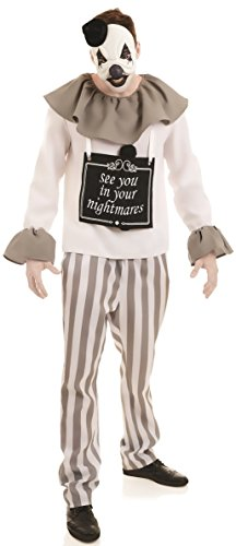 Mime Circus Halloween Fancy Dress Costume Outfit M L XL (Medium) ()