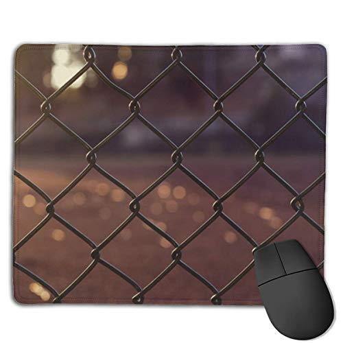 Schwarzer Zyklon-Zaun Mauspads, rutschfeste Mausmatte, abwaschbares, vernähtes Mousepad für Gaming, Computer, Laptop, 25x30cm