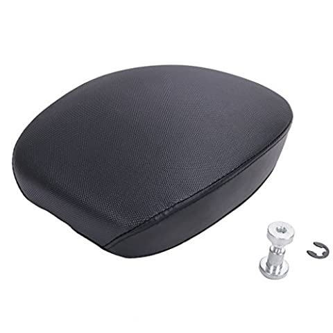 WANOOS Black Leather Rear Passenger Seat Pillon for 2010-2015 Harley Forty Eight XL1200X 1200V