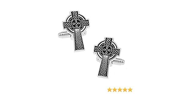 Nouveaut/é Th/ème Religieux Bijoux Boutons de manchette Bible en croix en argent dans un coffret de luxe GRATUIT pour Ashton et Finch