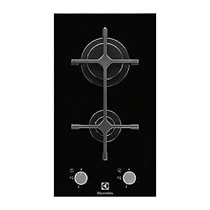 Electrolux EGC3322NVK Integrado Encimera de gas Negro hobs – Placa (Integrado, Encimera de gas, Vidrio, Negro, 1000 W…