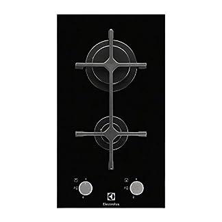 Electrolux EGC3322NVK Integrado Encimera de gas Negro hobs – Placa (Integrado, Encimera de gas, Vidrio, Negro, 1000 W, 2900 W)