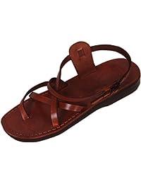 En cuir véritable marron de Jésus romain Sandales de l'Union européenne#003–taille 35–46