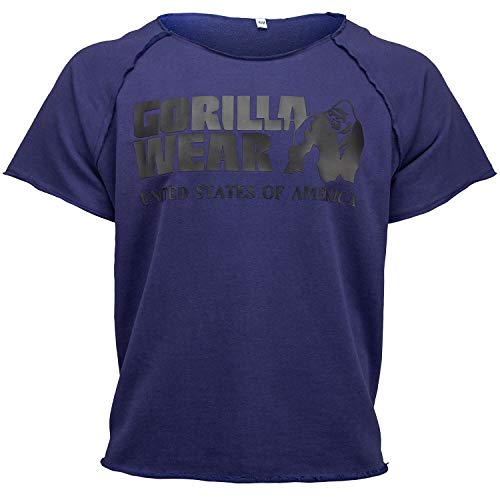 GORILLA WEAR Classic Work Out Top für Bodybuilder - Strongman und Fitness Navy L/XL