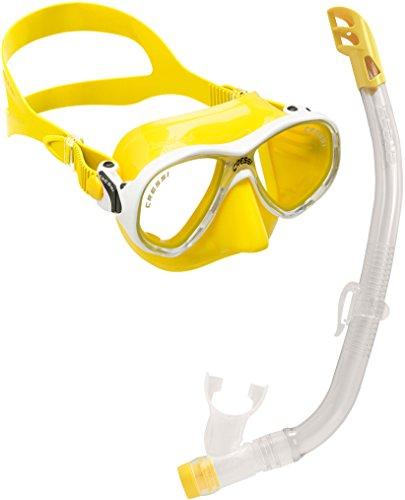 Cressi C/Set Marea VIP New Pack de Snorkel, niños, Amarillo, 7-13 años