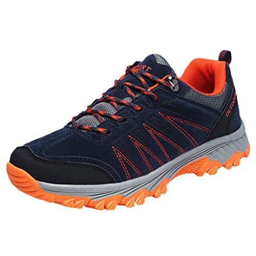 HROIJSL Unisex-Erwachsene Arbeitsschuhe Outdoor Wanderschuhe rutschfeste tragbare Freizeitschuhe atmungsaktive Loafer Laufschuhe Bequeme Sportschuhe für Herren und Freizeitschuhe