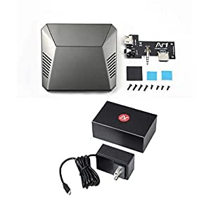 Argon ONE Mini Computer Case for Raspberry Pi 3 B+ / B (Case + 5.25 V Power Supply)