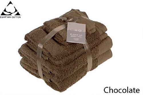 chocolate-brown-650gsm-6pc-prestige-luxor-egyptian-cotton-towel-bale-bundle-gift-set