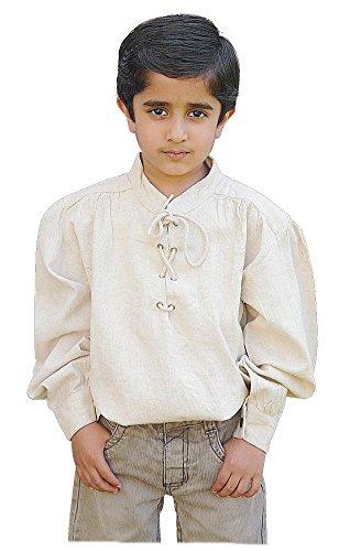 (Bäres Mittelalter Hemden, Tuniken kleiner Recke - Kinder Markthemd - Kinder Adrien für 6-8 jährige/schwarz)