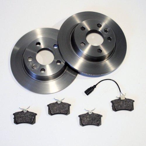 Bremsscheiben/Bremsen + Bremsbeläge + Warnkabel für hinten