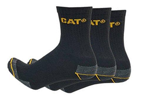 Caterpillar Cat 12 Paar halbkurze Herren Arbeitssocken in Sneakerform/Quarter Socks/in 3 Farben und 2 Größen