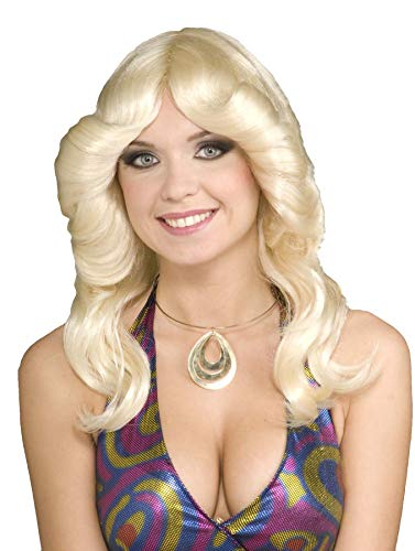 Disco Doll Kostüm - 70's Disco Doll Blonde Adult Costume Wig