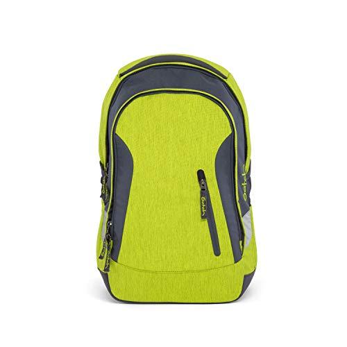 satch Sleek Ginger Lime, ergonomischer Schulrucksack, 24 Liter, extra schlank, Gelb/Grün/Melange
