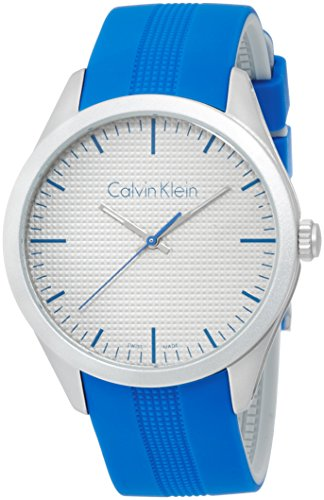 Calvin Klein Unisex Quartz Watch with Black Dial Analogue Display Quartz Rubber K5E51FV4
