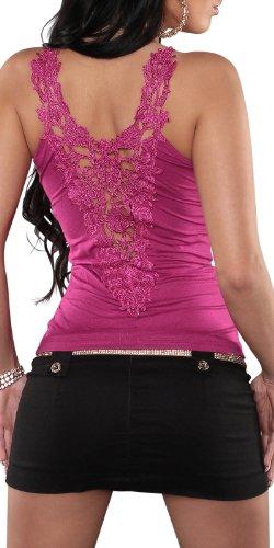 Carrier camicia della parte superiore con scollo a V ricamo dimensioni unità 38,40,42 colori diversi Rosa scuro